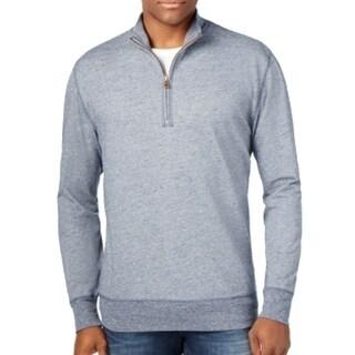 Weatherproof NEW Blue Mens Size Large L 1/2 Zip Mock Collar Sweater
