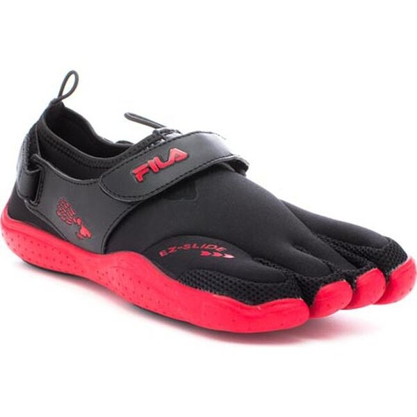 346fd829e7 Shop Fila Men's Skele-Toes EZ Slide Drainage Black/Chinese Red ...