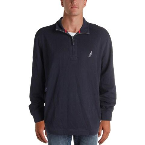 Nautica Mens Big & Tall Pullover Sweater 1/4 Zip Fleece - 3xlt