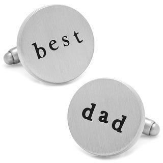 Best Dad Silver Plated Cufflinks