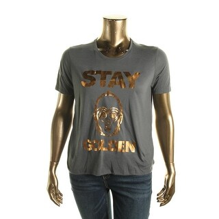 Star Wars Womens Juniors Short Sleeves Metallic Pullover Top - XL