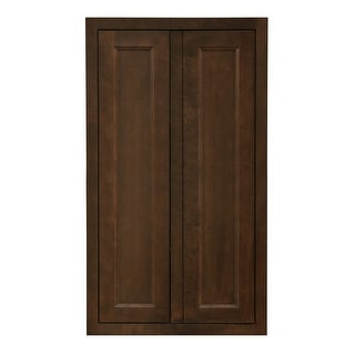 """Sunny Wood HBP2442T-A  Healdsburg 24"""" Wide x 42"""" High Double Door Pantry Cabinet - Rich Walnut Finish"""