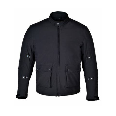 Men Motorcycle Jacket SoftShell Polyester with CE Armor MHD1