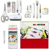 Cricut Maker Accessories Bundle - Fabric Sampler, Pen, Felt, Tools & Sewing Kit