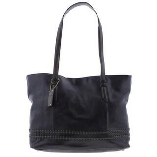 Tignanello Womens Classic Boho Tote Handbag Leather Contrast Trim - Large
