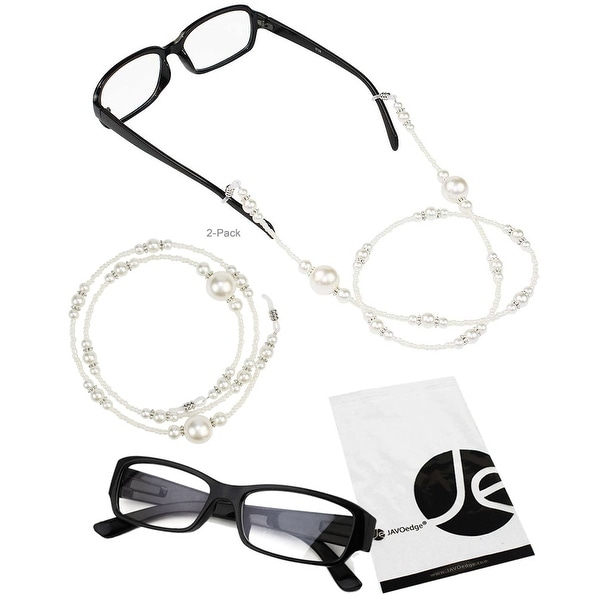 JAVOedge 2 Pack Decorative Beaded Eyeglasses/ Glasses Lanyard - GOLD
