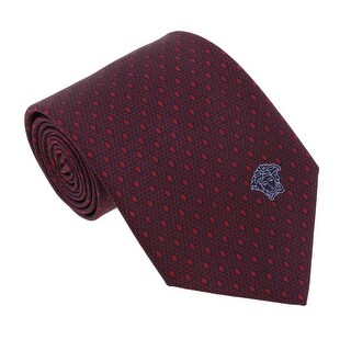 Versace Bordeaux Woven Micro Neat Tie