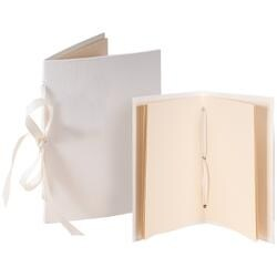Tibetan Book; Ivory 4.25X6.5 & 5X7.5 - Books By Hand Designed By Me Blank Cover Bookbinding Kit
