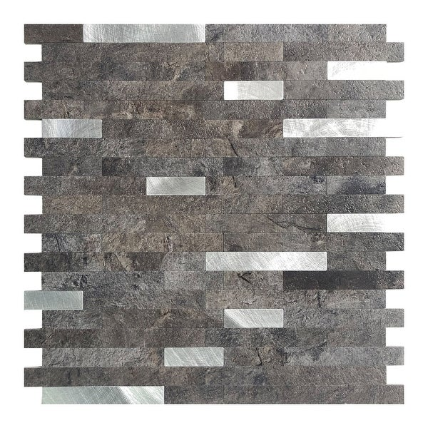 """Art3d 12""""x12"""" Peel and Stick Tiles (5-Pack) Faux Stone Material. Opens flyout."""