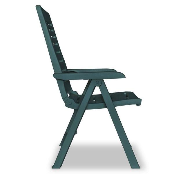 Shop vidaXL Reclining Garden Chairs 2 pcs Plastic Green