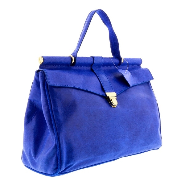 HS2071 VIVI Blue Leather Top Handle/Shoulder Bag - 19-9.5-5