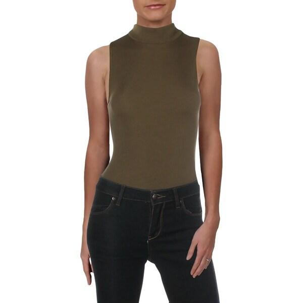 Free People Womens Mock Neck Sleeveless Bodysuit