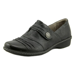 Naturalizer Response Women W Round Toe Leather Black Loafer