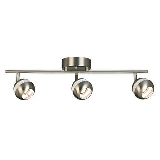 Link to Eglo Maple Park 3-Light Brushed Nickel LED Semi-Flush Mount Track Lighting Similar Items in Track Lighting