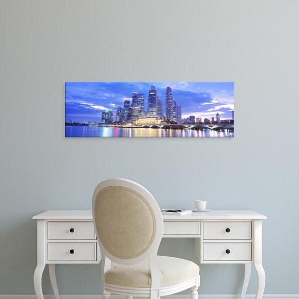 Easy Art Prints Panoramic Images's 'Evening, Singapore' Premium Canvas Art