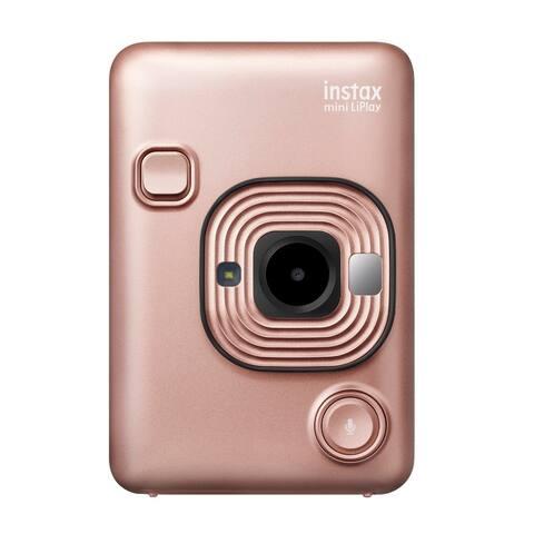 "Fujifilm Instax Mini Hybrid LiPLay Instant Camera (Blush Gold) - 5.78"" x 4.06"" x 3.39"""