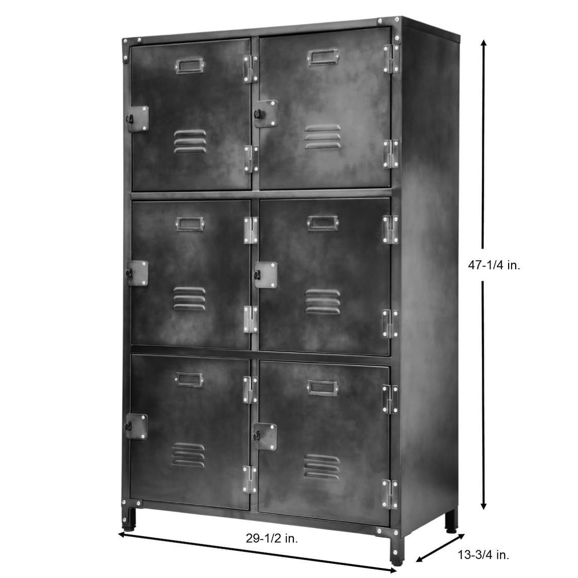 Alle 6 Door Steel Storage Locker