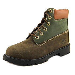 Timberland 6 Inch Prem Youth Round Toe Leather Green Boot