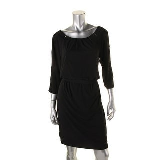 Jessica Simpson Womens 3/4 Sleeves Knee-Length Party Dress