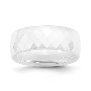 Chisel White Ceramic Ring (8.0 mm) (More options available)