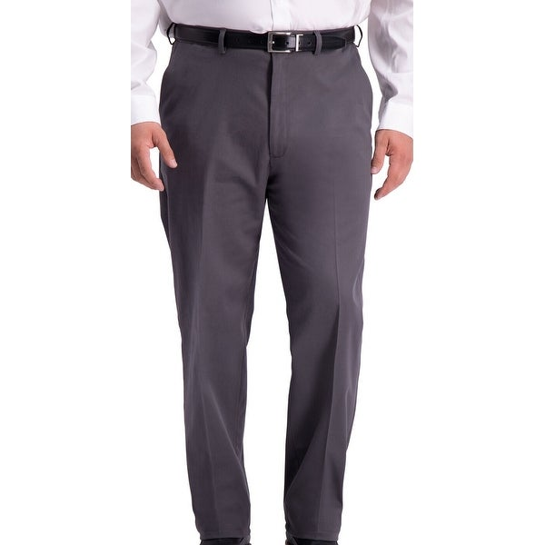 Haggar Mens Pant Charcoal Gray Size 48x34 Big & Tall Relaxed Fit Stretch. Opens flyout.