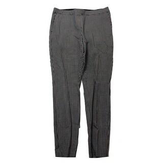 Alfani Petite Black White Printed Comfort Waist Skinny Pants P