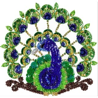 """Design Works/Zendazzle Stamped Needleart Kit 10""""X10""""-Peacock"""