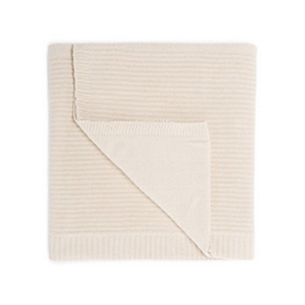 "Ivory/White Cotton Throw - OMA02 50""x60"""