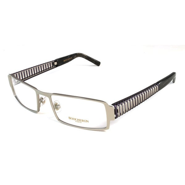 09dd1e6d47de Boucheron Unisex Semi-Rectangle Full-Rimmed Eyeglasses Purple Gold - Black  - S