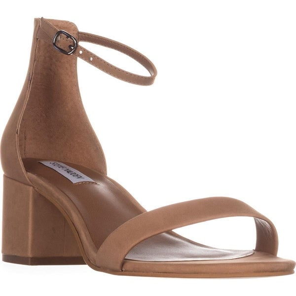 4a70e04d589 Shop Steve Madden Irenee Heeled Ankle Strap Sandals, Tan - Free ...