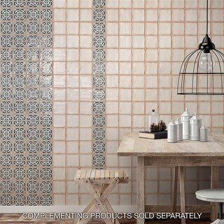 Link to SomerTile 4.875x4.875-inch Chronicle Bakula Ceramic Floor and Wall Tile (32 tiles/5.84 sqft.) Similar Items in Tile