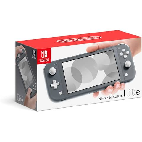 Nintendo Switch Lite Gray with Slim Tough Pouch (Black)- Officially Licensed By Nintendo - Grey