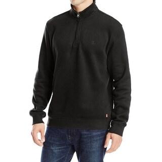 IZOD NEW Black Mens Size Small S Pullover 1/4 Zip Sueded Fleece Jacket