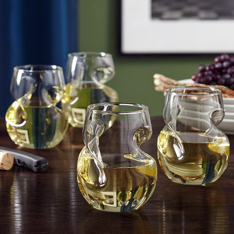 Modena Sculpted Wine Glasses, Set of 4