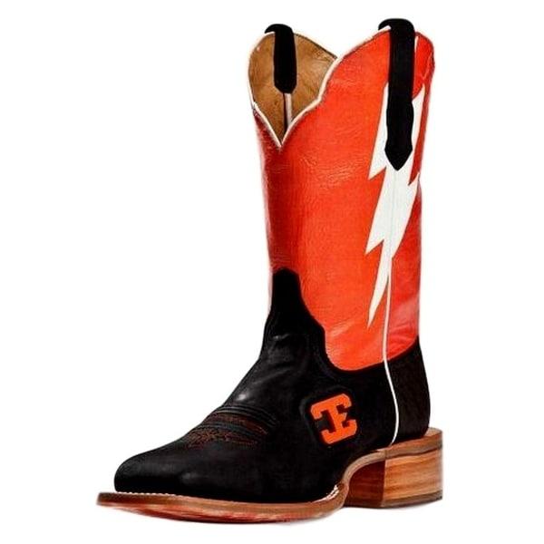 Cinch Western Boots Mens Edge Cowboy Bolt Square Toe Black