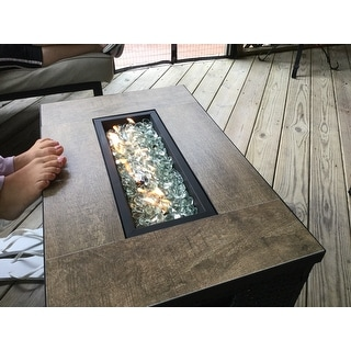 Cheyenne 32x20 Fire Table in Black by Sego Lily