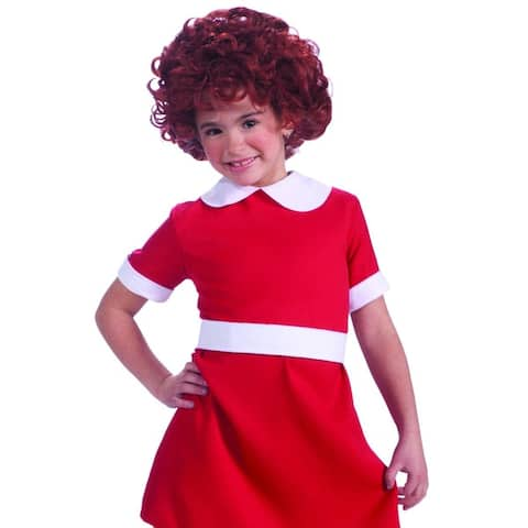 Little Orphan Annie Red Costume Wig Child