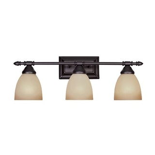 """Designers Fountain 94003 Three Light Down Lighting 23.75"""" Wide Bathroom Fixture from the Apollo Collection"""