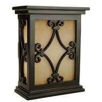 "Craftmade CH1515 Traditional 7"" Wide Hand-Carved Door Chime with Tea-Stained Glass - black semi gloss - N/A"