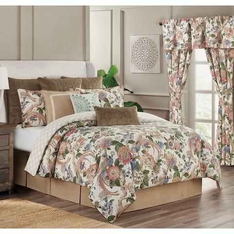 4-piece Audrey Floral Comforter Set