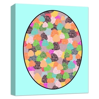 """PTM Images 9-124838  PTM Canvas Collection 10"""" x 8"""" - """"Watercolor Rocks"""" Giclee Patterns and Designs Art Print on Canvas"""