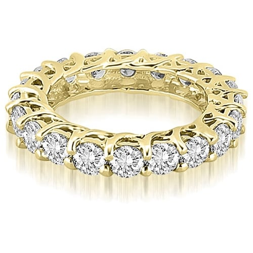 14K Yellow Gold 4.00 cttw. Round Diamond Eternity Ring HI,SI1-2