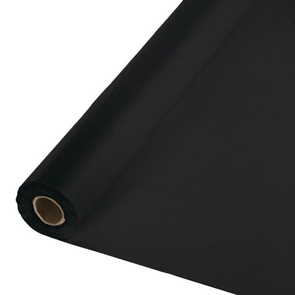 250' Black Velvet Royal Magic Decorative Disposable Banquet Table Roll - N/A