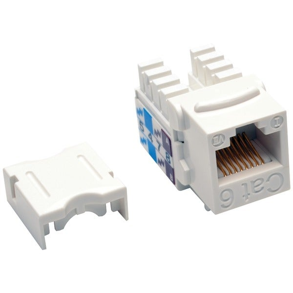 Tripp Lite N238-001-Wh Cat-6/Cat-5E 110-Style Punch-Down Keystone Jack (White)