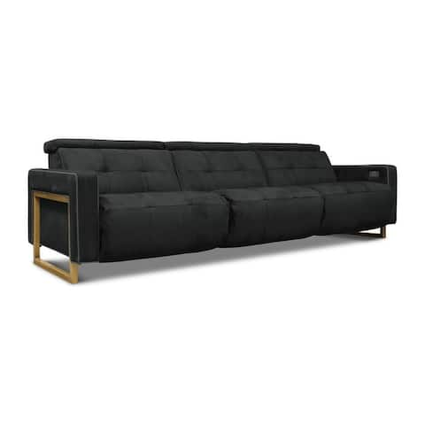 Casino Royale Leather 3-Piece Power Recliner Sofa