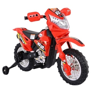 Costway Kids Ride On Motorcycle with Training Wheel 6V Battery Powered Electric Toy