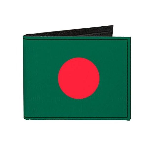 Buckle-Down Canvas Bi-fold Wallet - Bangladesh Flag Accessory