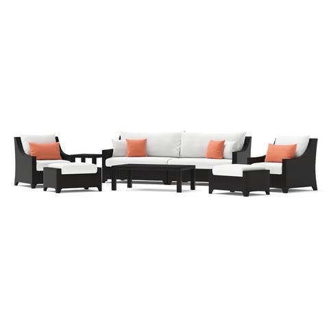 Deco 8pc Sofa and Club Chair Set by RST Brands