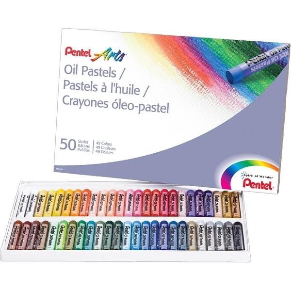 Pentel Oil Pastels 50/Pkg-Assorted Colors