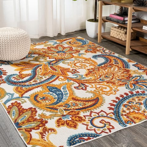 JONATHAN Y Gordes Paisley High-Low Indoor/Outdoor Area Rug